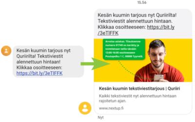 Uutta tehoa tekstiviestikampanjaan linkin esikatselulla