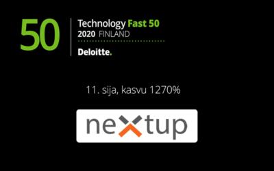 NextUp sijalle 11 Deloitte Technology Fast 50 -listauksessa
