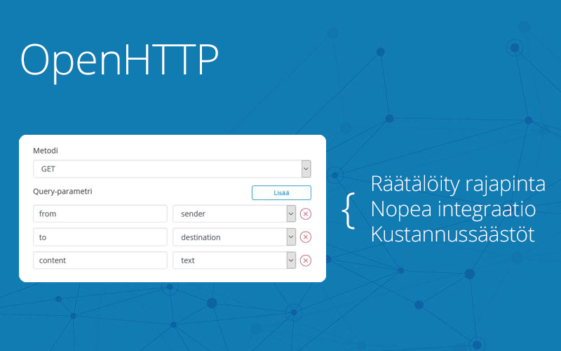 OpenHTTP-rajapinta nyt saatavilla